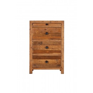 Brooklyn Industrial 3 Drawer Bedside Unit