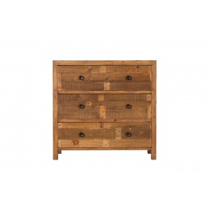 Brooklyn Industrial 3 Drawer Wide Chest