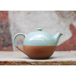 Mali Ceramic Green & Terracotta Tea Pot