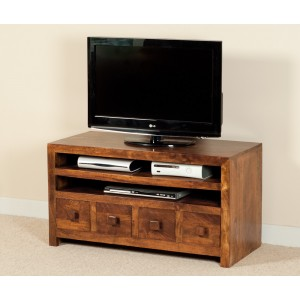 Dakota Mango Medium 4 Drawer TV Unit 1