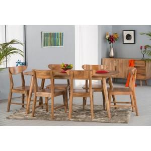 979f26599e Handcrafted Dining Sets From Acacia, Mango & Sheesham Wood