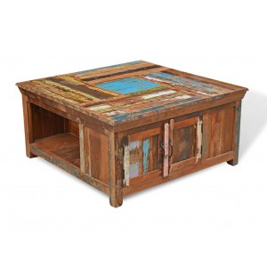 Reclaimed Indian Square Storage Coffee Table