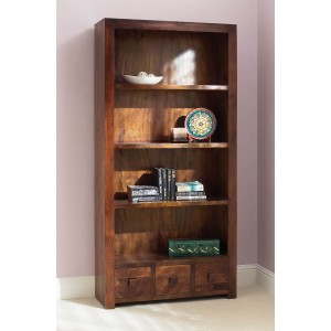 Dakota Mango Tall Bookcase 1
