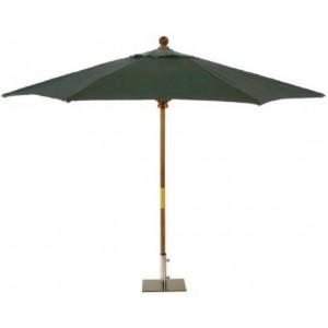 Sturdi 2.5m Wooden Parasol - Green 1