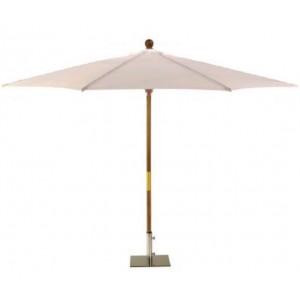 Sturdi 2.5m Wooden Parasol - Natural 1