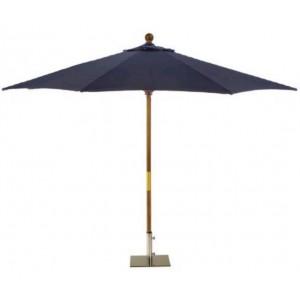 Sturdi 3m Wooden Parasol - Navy Blue 1