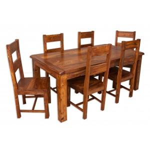 Farmhouse Sheesham 6-Seater Dining Set