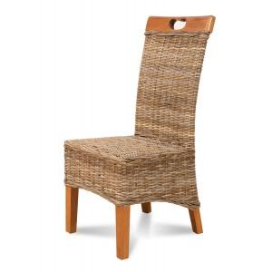 Vienna Kubu Rattan Dining Chair - Light Leg