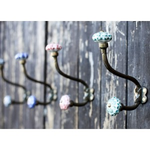Hand Painted Ceramic Hanging Hooks