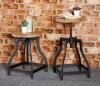 Imari Industrial Mango Stool/Side Table
