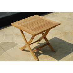 Solid Teak Folding Side Table