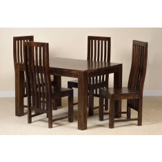 Dakota Dark Mango 4 Seater Dining Set