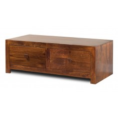 Dakota Mango 4-Drawer Coffee Table