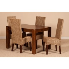 Ibis Rattan 4-Seater Dining Set - Dakota Table