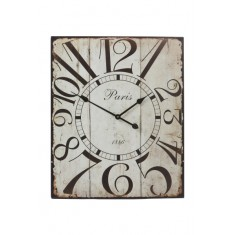 White Metal Paris Wall Clock