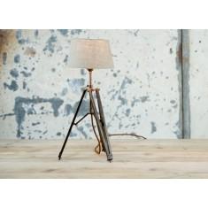 Dark Metal Tripod Table Lamp