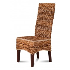 Catalina Rattan Dining Chair - Dark Leg