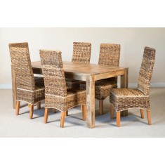 Catalina 6-Seater Light Mango Dining Set