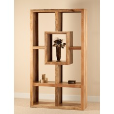 Mango Natural Tall Open Bookcase/Shelving Unit