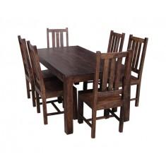Mango Walnut 6-Seater Dining Set