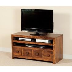 Dakota Mango Large 4 Drawer TV Unit