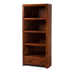Kashmir Sheesham Tall 2 Drawer Bookcase