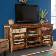 Reclaimed Indian Large Media Cabinet