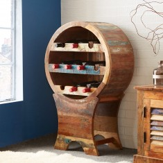 Reclaimed Indian Wine Rack