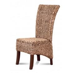 Rosanna Rattan Dining Chair - Dark Leg