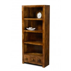 Dakota Mango 3-Drawer Bookcase