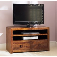 Dakota Mango Large 2 Drawer TV Unit
