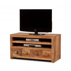 Dakota Light Mango Medium 4 Drawer TV Unit