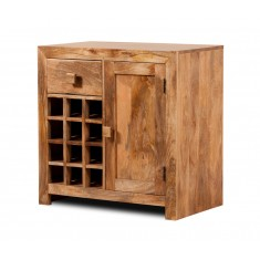 Dakota Light Mango Wine Cabinet