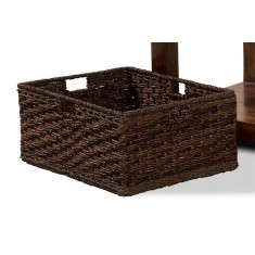 Coffee Table Rattan Storage Basket