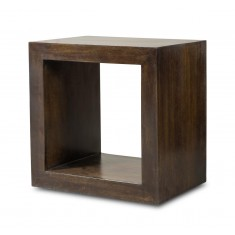 Dakota Dark Mango Cube Side Table