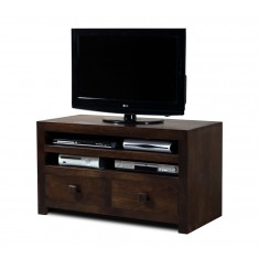 Dakota Dark Mango Large 2 Drawer TV Unit