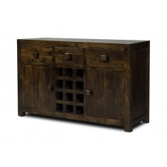 Dakota Dark Mango Large Open Sideboard