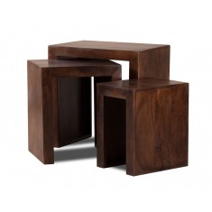 Dakota Dark Mango Trio Table Nest
