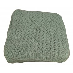 Duck Egg Ribbed Throw