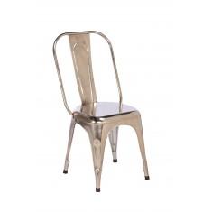Imari Industrial Metal Dining Chair (Chrome)