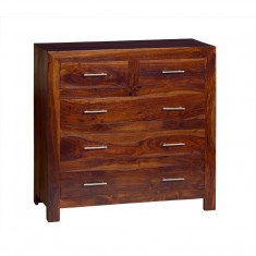 Cube Sheesham Large Chest Of Drawers