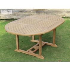 Teak Devon 1.2-1.7m Extending Table