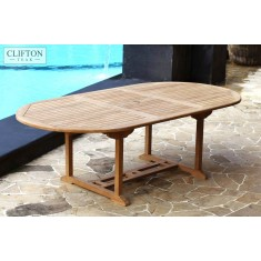 Solid Teak 1.8m-2.4m Extending Table