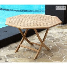 Teak Wiltshire 1.2m Octagonal Table