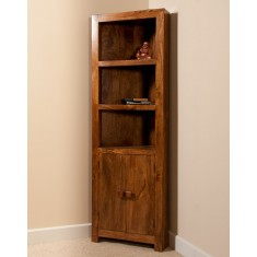 Dakota Mango Corner Bookcase
