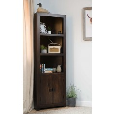 Dakota Dark Mango Corner Bookcase