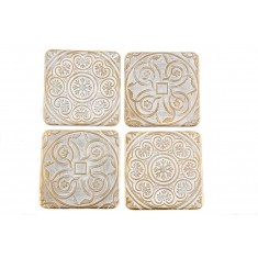Gold Stone Coasters Set of 4