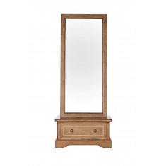 Florence Mango and Stone Cheval Mirror
