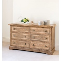 Florence Mango and Stone 6 Drawer Chest
