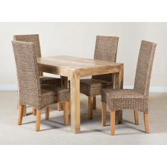 Ibis Rattan 4-Seater Light Mango Dining Set
